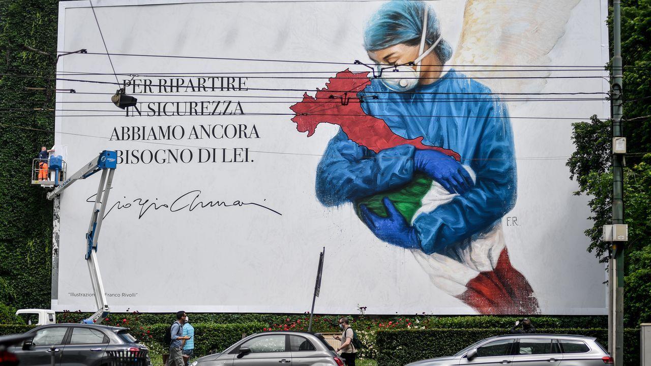 En las últimas 24 horas han fallecido otrsa 130 personas en Italia a causa del coronavirus