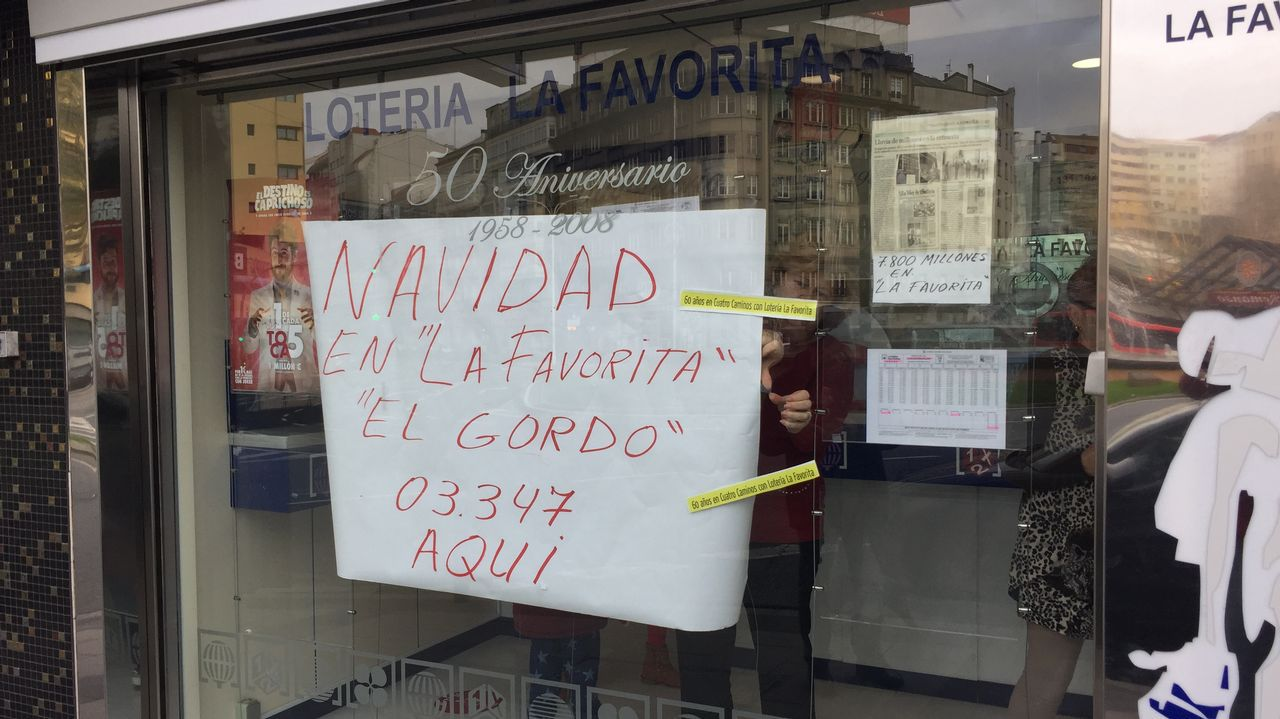 En La Favorita vendieron un decimo del gordo, el primero de su historia.