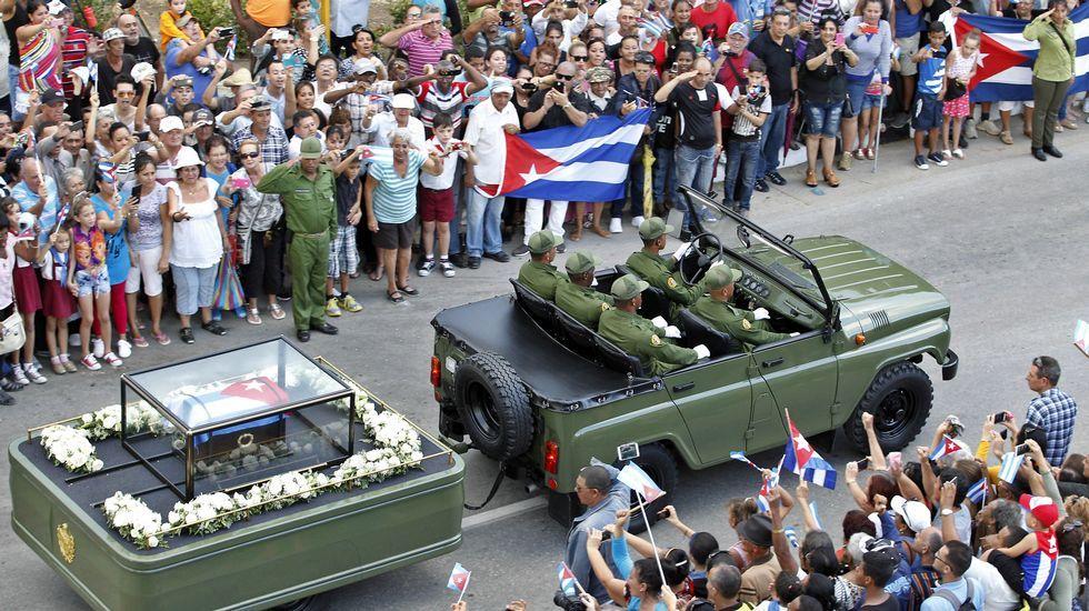 Los restos de Fidel Castro llegan a Holguín, su localidad natal