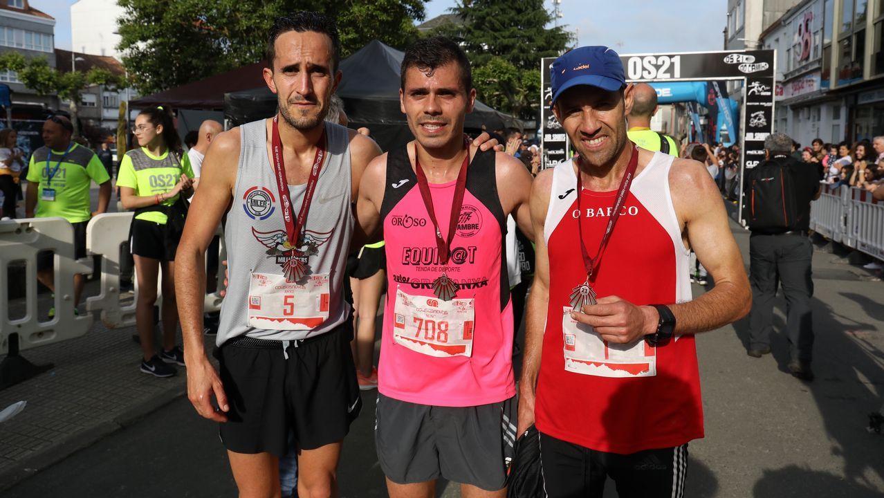 El portugués Nuno Pinto ganó el medio maratón Os 21 do Camiño.Foto de la peregrina desaparecida cedida por la Guardia Civil