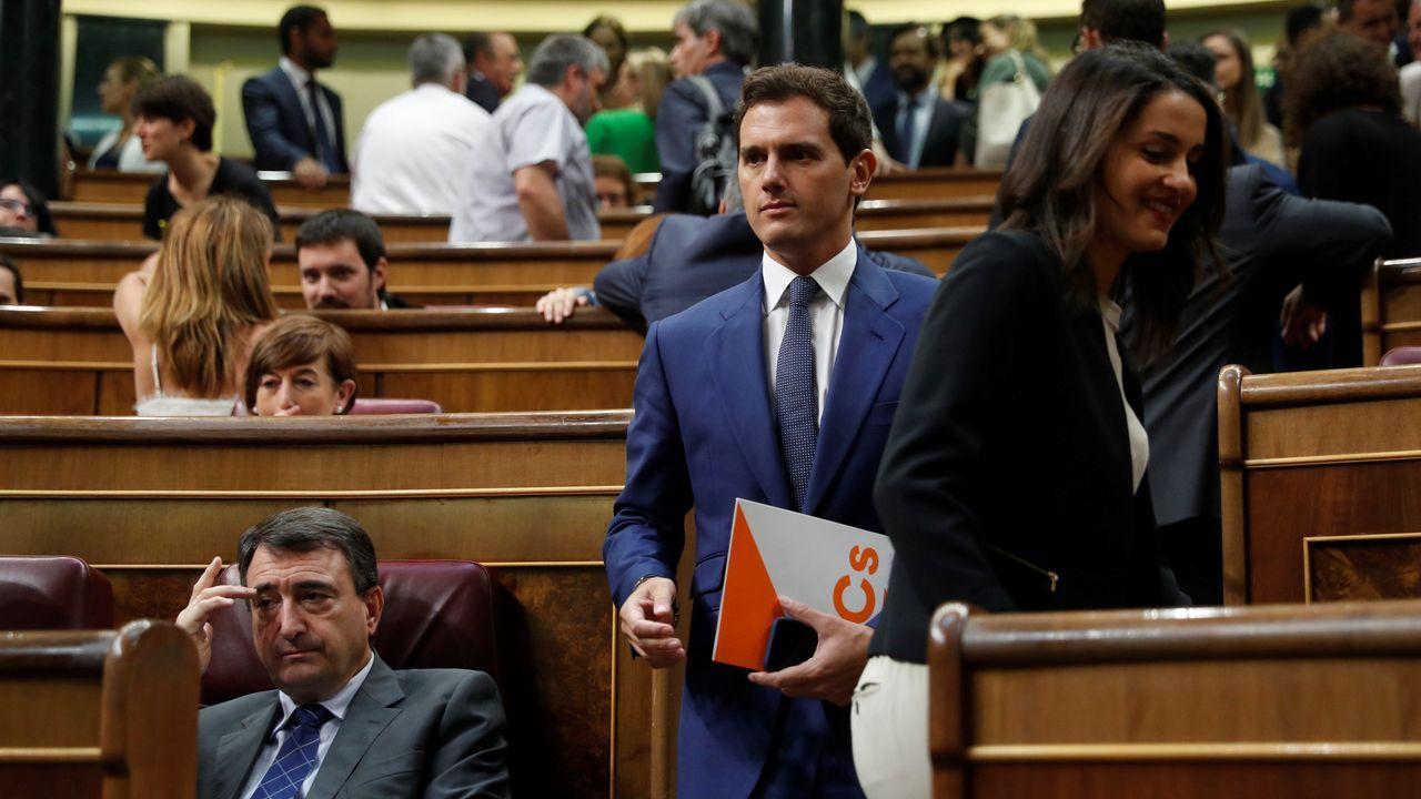 Sánchez, Iglesias, Rivera y Casado, durante la campaña de las elecciones del 28 de abril