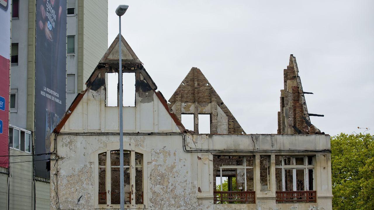 Imagen de archivo de algunos de los destrozos en zonas verdes de Oleiros