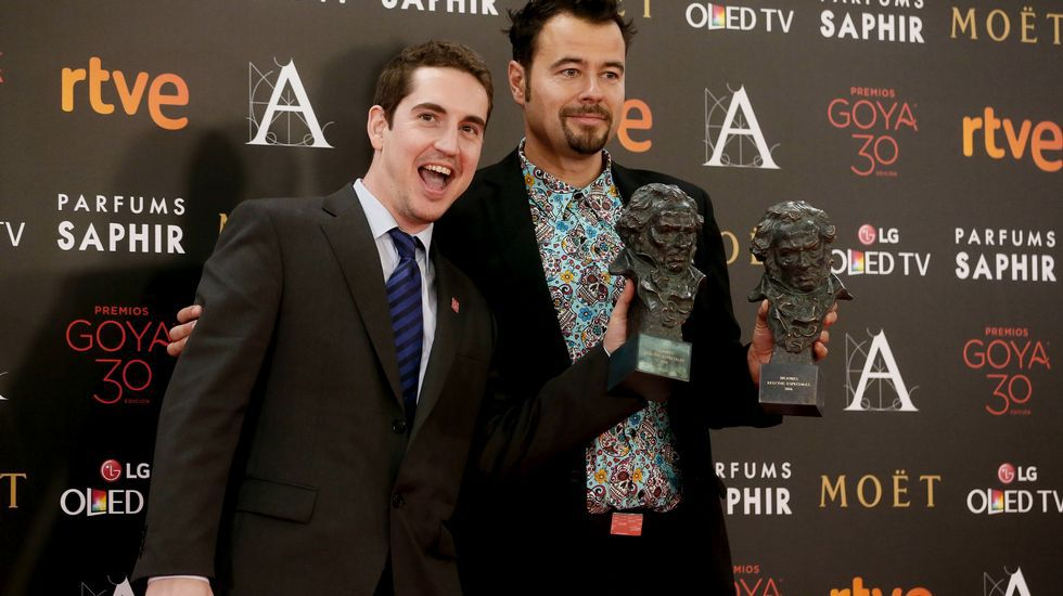 Lluis Rivera y Lluis Castells reciben el Goya a los mejores efectos especiales por «Anacleto, agente secreto»
