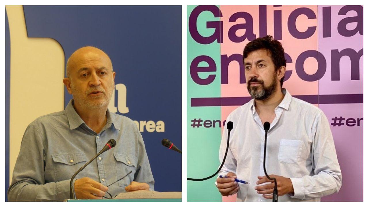 Pancho Casal (En Marea) y Antón Gómez-Reino (Galicia en Común)