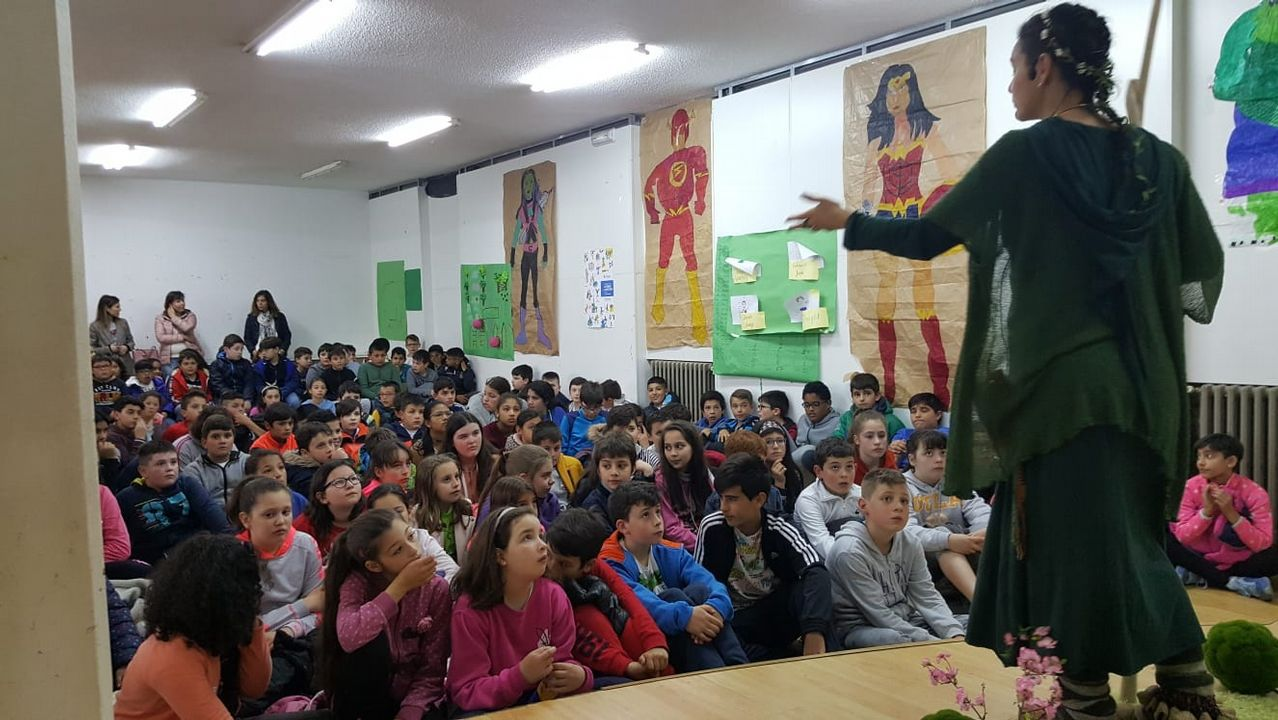 Miguel peregrina en cenizas.Semana das Letras en Sarria