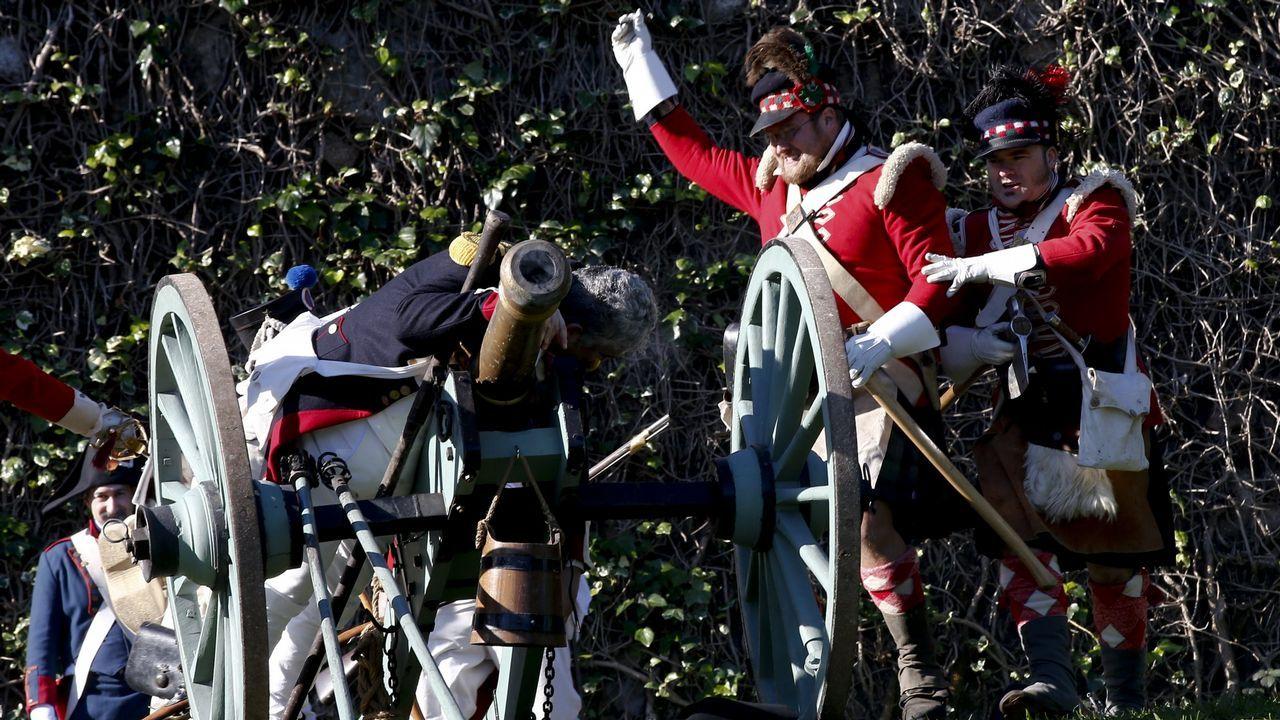 La guerra de la Independencia volvió a Elviña.Una de las vistas de la ría de Vigo pintada por Wyllie
