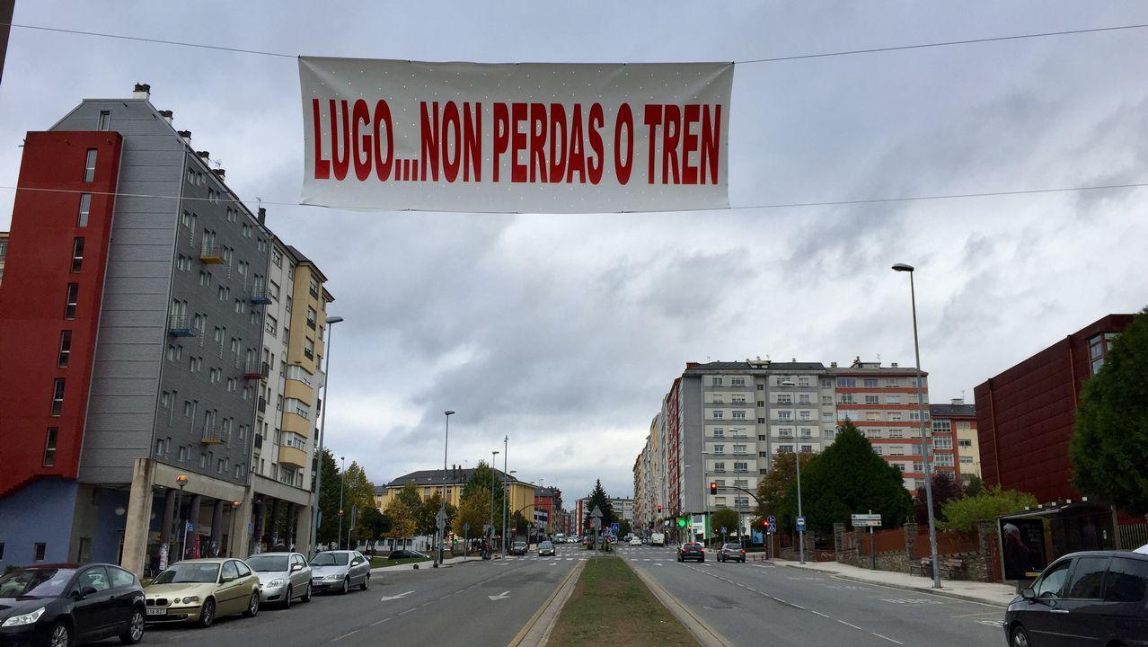 El informe de seguridad no evaluó el riesgo en la curva de Angrois.Un tren Alvia en la estación de Oviedo