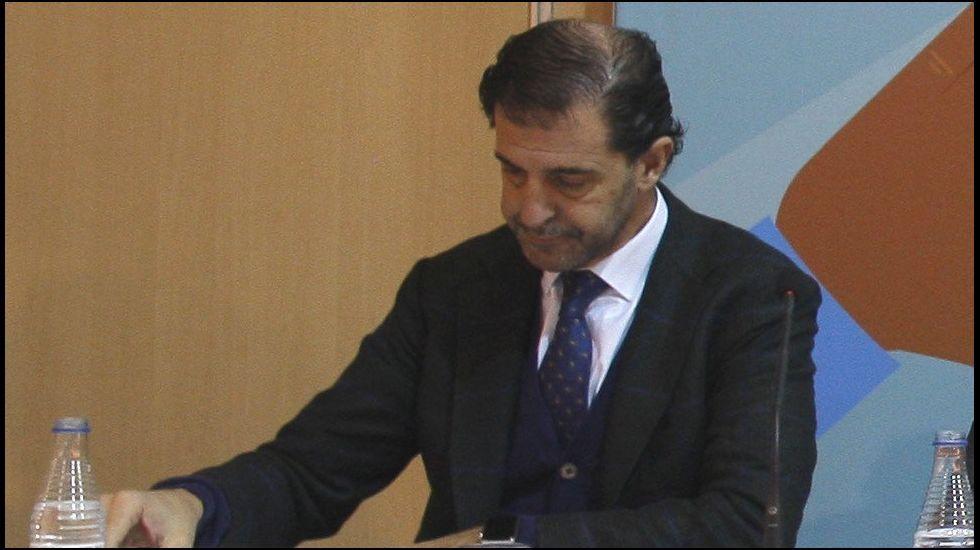 El presidente de la Federación Asturiana de Empresarios (FADE), Pedro Luis Fernández