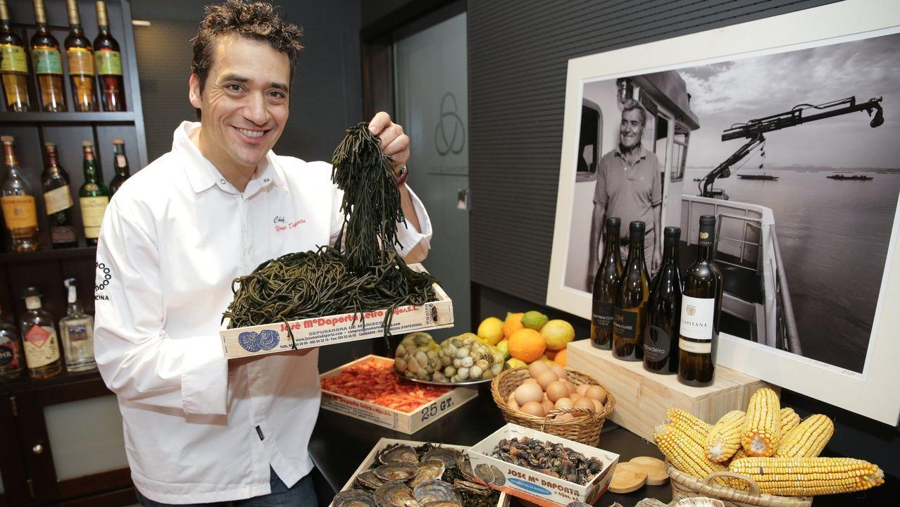 El chef Yayo Daporta asegura que «muchos restaurantes gallegos están al mismo nivel que otros locales españoles con dos estrellas Michelin»