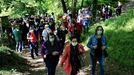 Marcha de protesta contra una agresión sexual que sufrió una vecina sarriana el año pasado