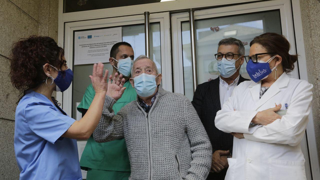 Primer vacunado contra el covid en A Coruña.Vista del Hospital Universitario A Coruña (Chuac)