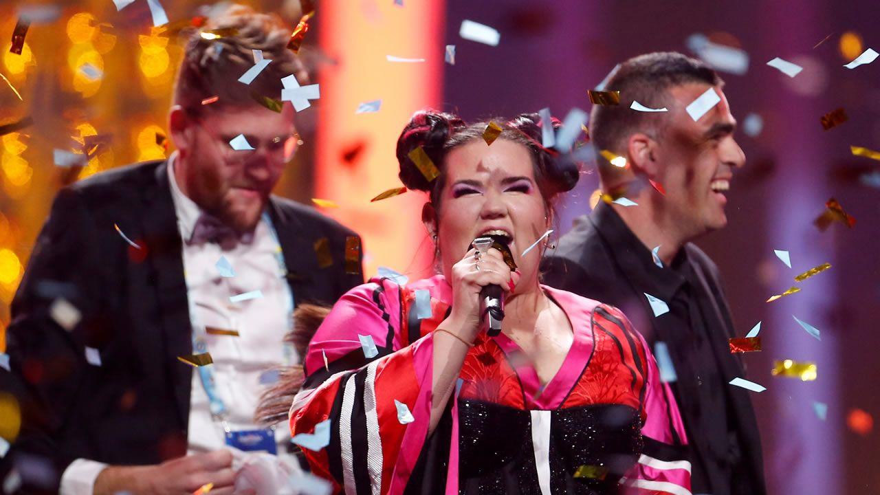 Así fue la actuación de Netta en la final de Eurovisión.Alfred García