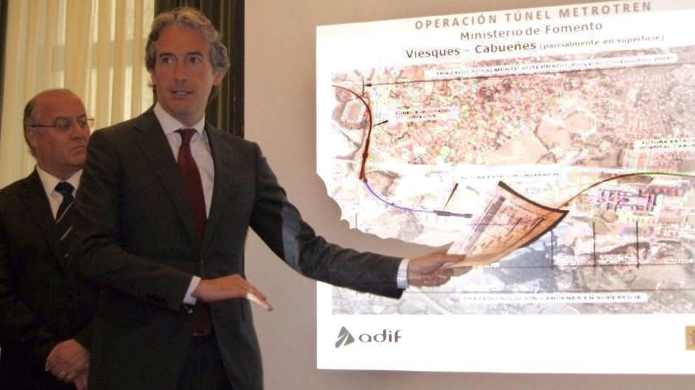Obras en la variante de Pajares.Íñigo de la Serna presenta el nuevo Plan de Vías en el Ayuntamiento