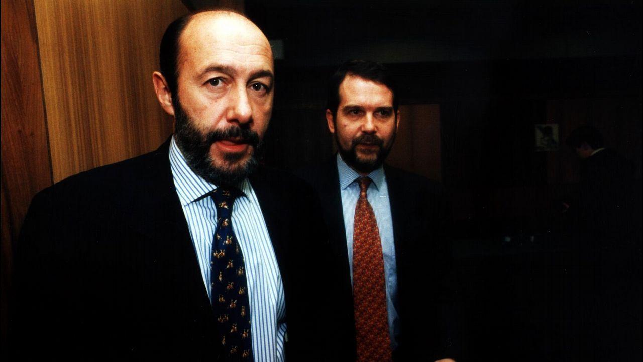 Pérez Rubalcaba con Abel Caballero en 1996