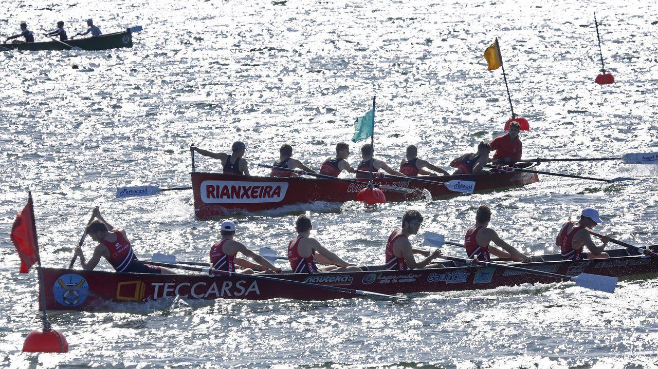 Así fue el Campionato Gallego de Traineriñas celebrado en Rianxo.En juvenil Cabo se llevó la victoria en su tanda con menos de un segundo de ventaja sobre Bueu