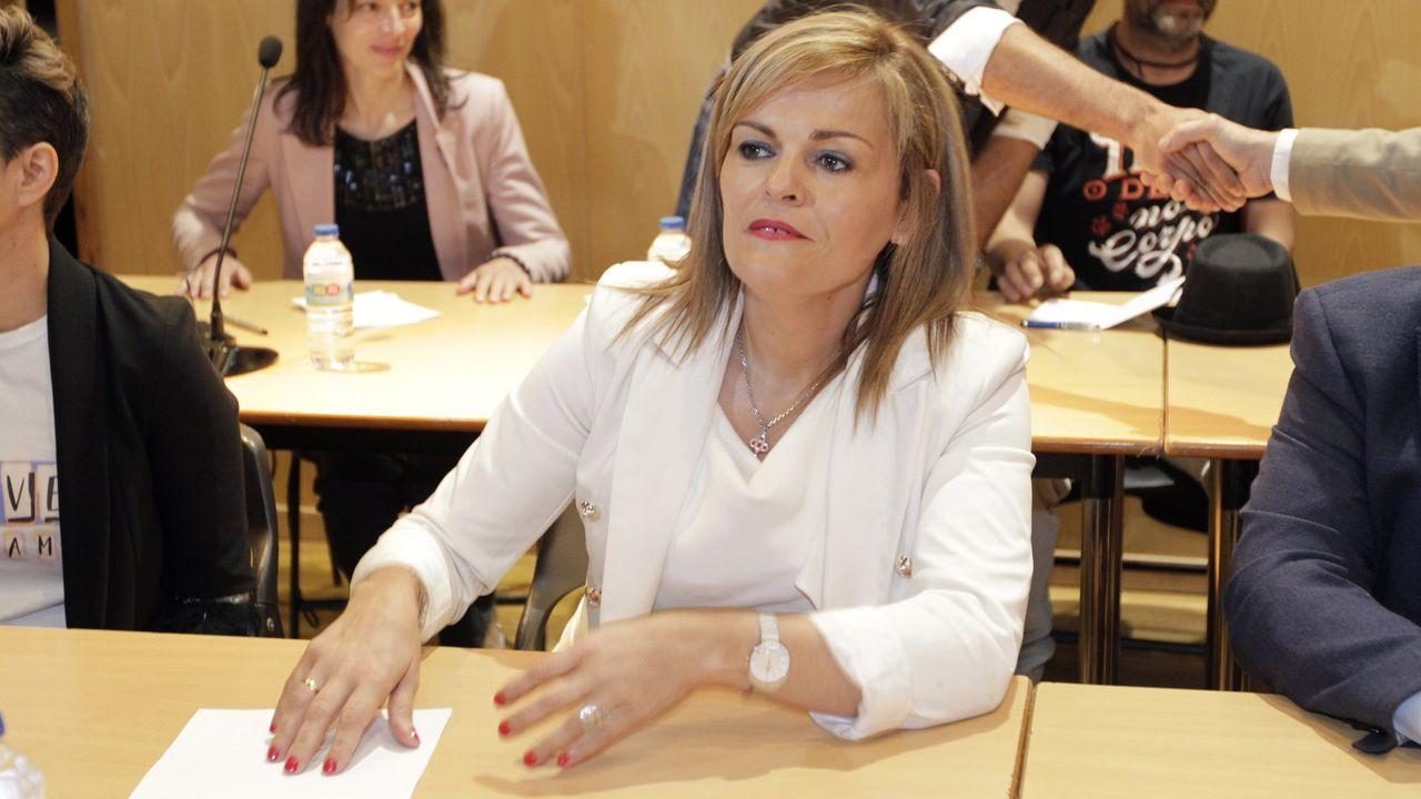 Laboral Ciudad de la Cultura.Ana Pontón, portavoz nacional del BNG, en el espacio Pensar Galiza