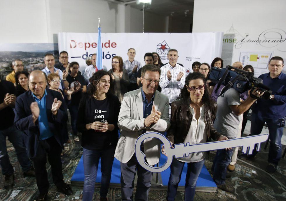 García entregó «á cidadanía» la llave de Ourense.