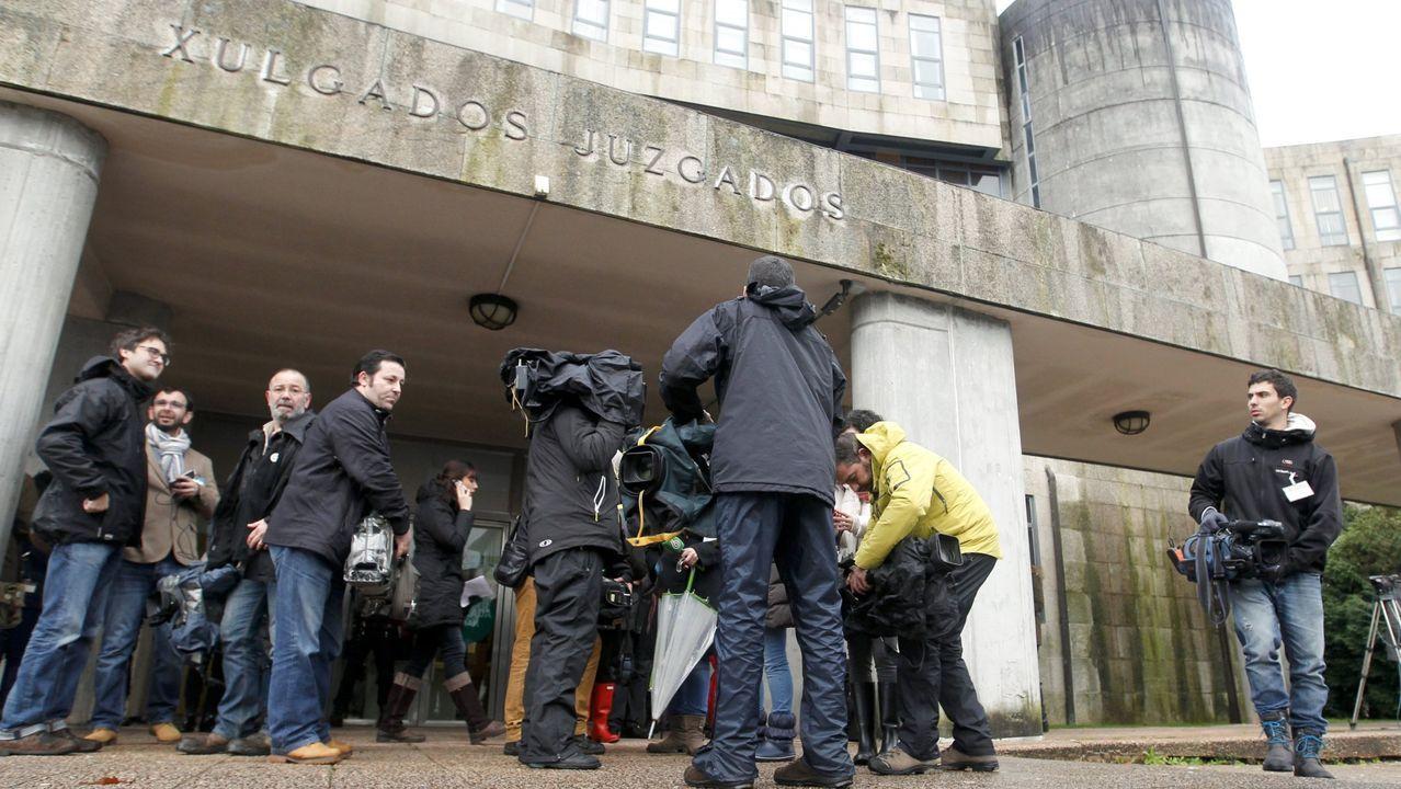 El edificio de los juzgados de Santiago, en una imagen de archivo