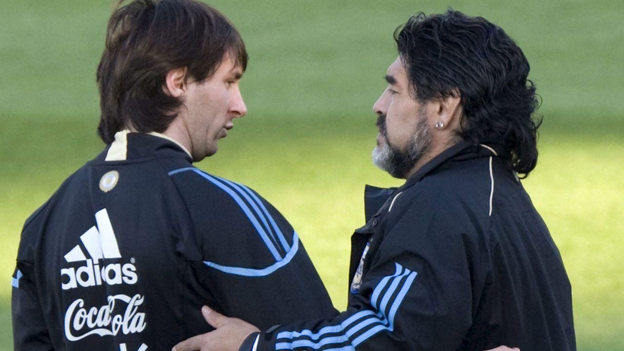 Maradona fue seleccionador argentino entre el 2008 y el 2010