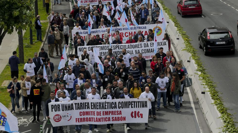 Los trabajadores de Alcoa en Avilés que marchan hacia Madrid superaron ya su segunda jornada
