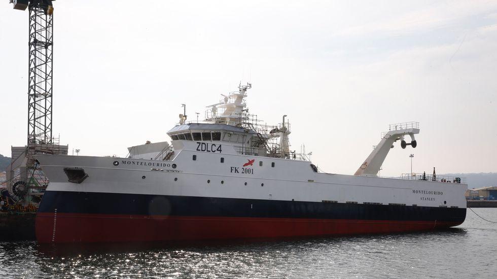 El Montelourido: del astillero Nodosa, en Marín, al Atlántico Sur.El Ría de Marín, uno de los cinco arrastreros que probararán el aparejo diseñado por Tecnopesca para limpiar el fondo marino