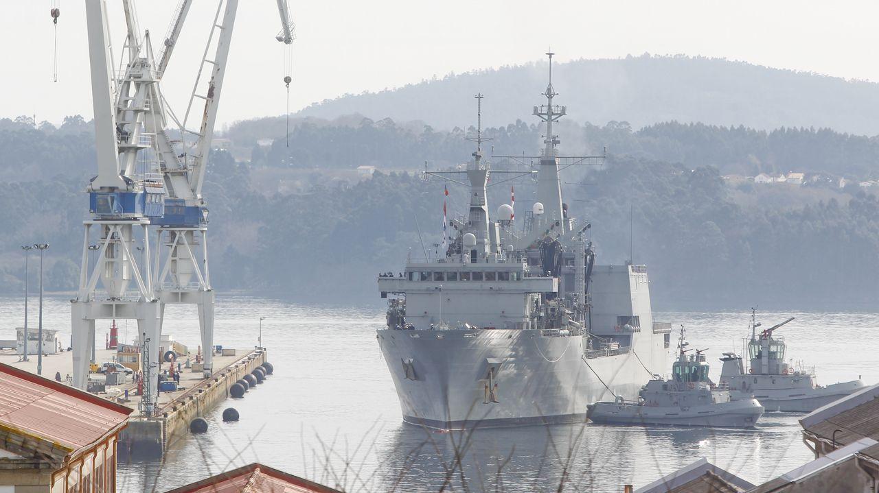 Imagen de la llegada del buque este mediodía