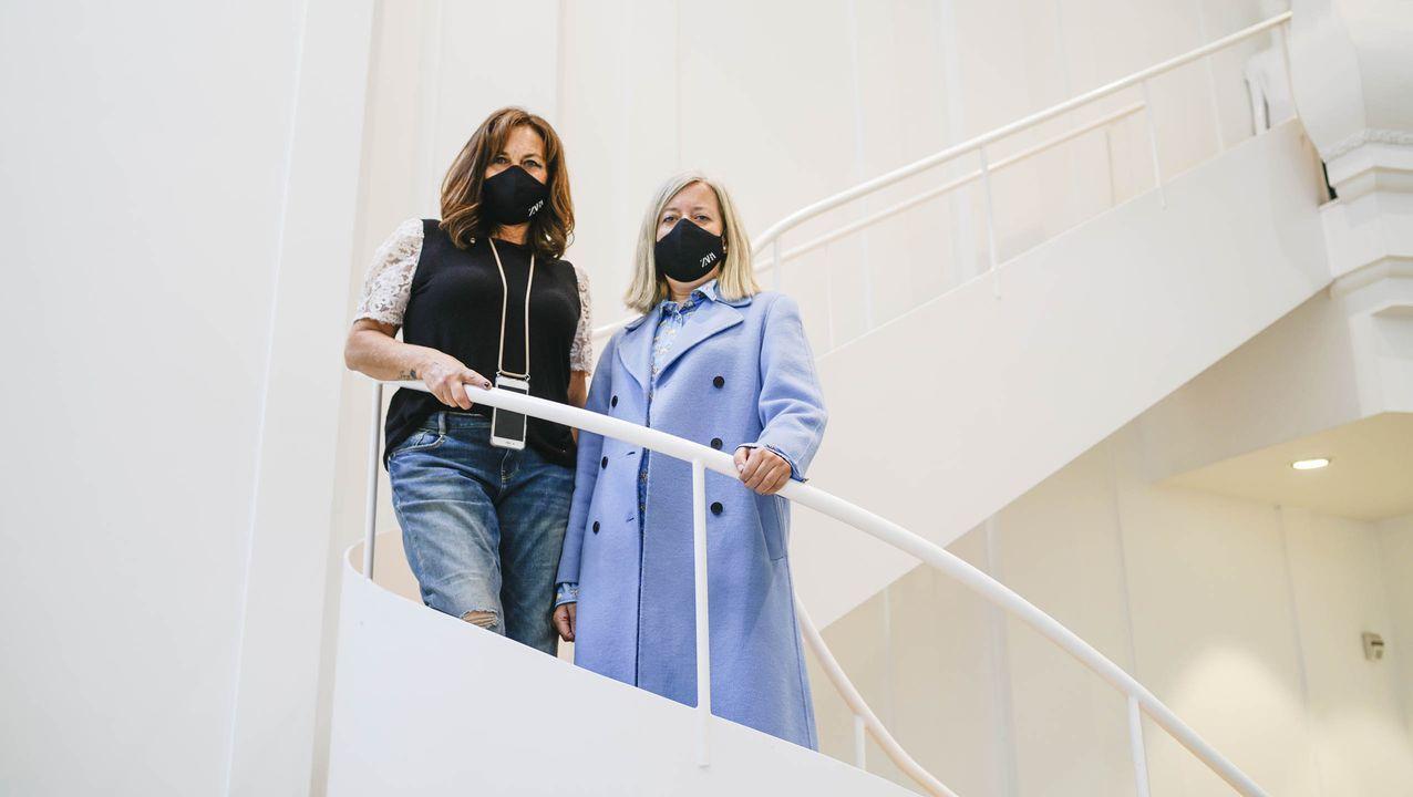 La nueva tienda de Zara en Pekín.Bosque de 20.000 metros en la sede de Inditex en Sabón, Arteixo