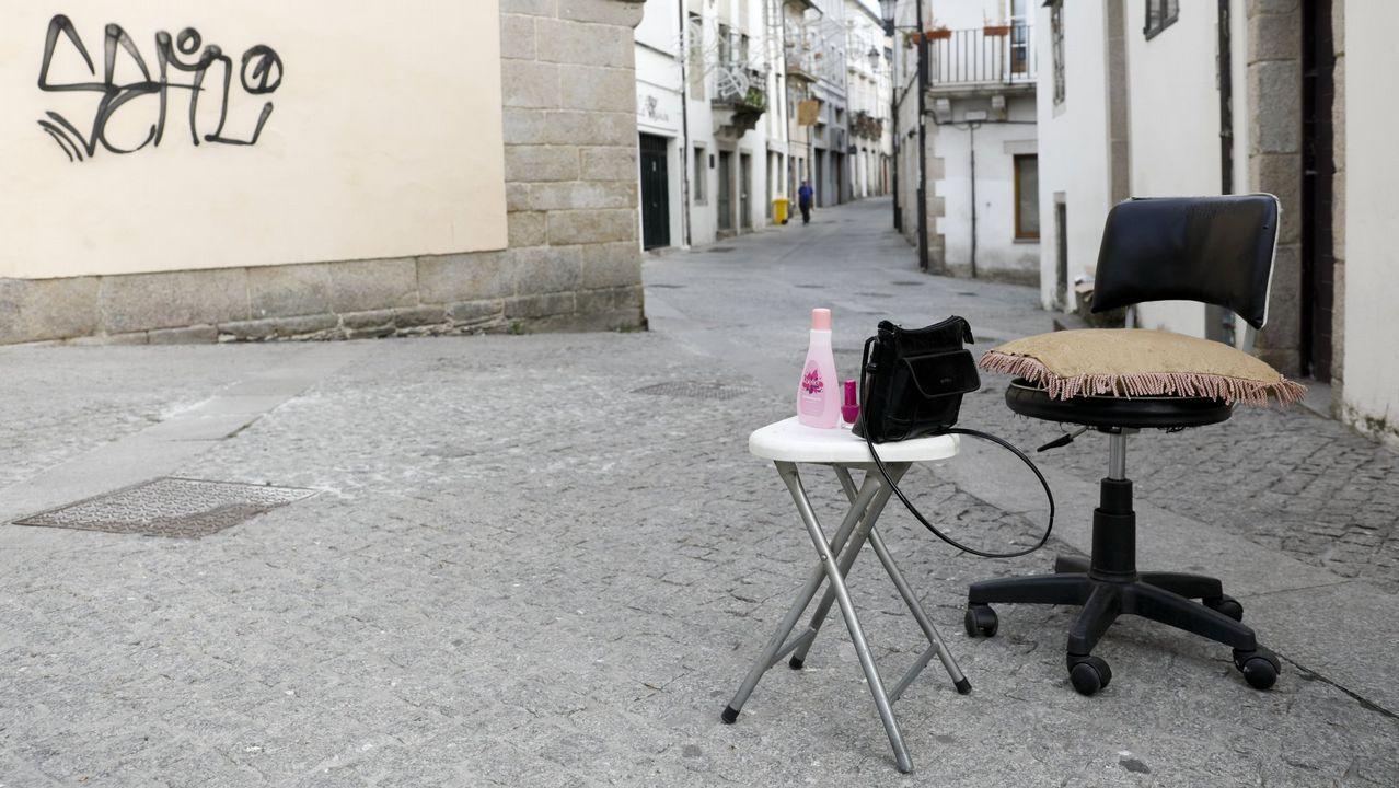 Prostituta en la zona de Beiramar, en Vigo