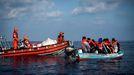 Foto de archivo de la oenegé alemana Sea Eye de un rescate del Alan Kurdi