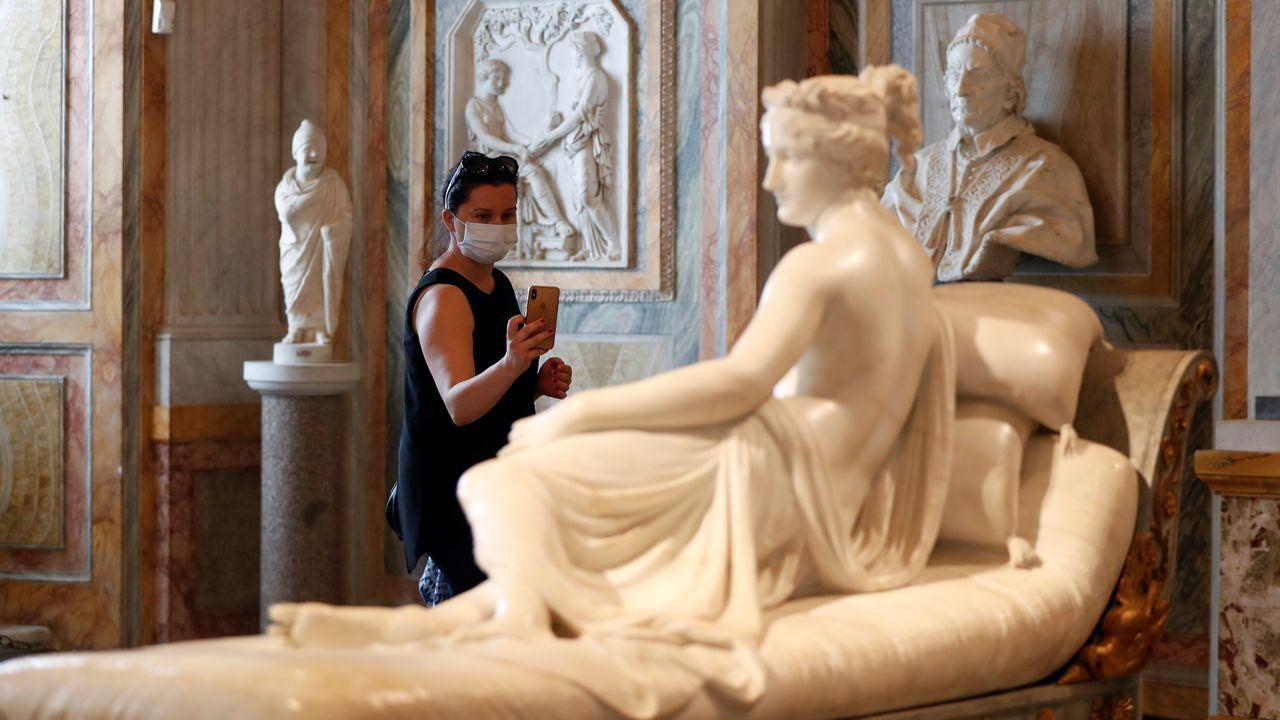 Los visitantes deben llevar mascarilla para poder acceder a la Gallería Borghese