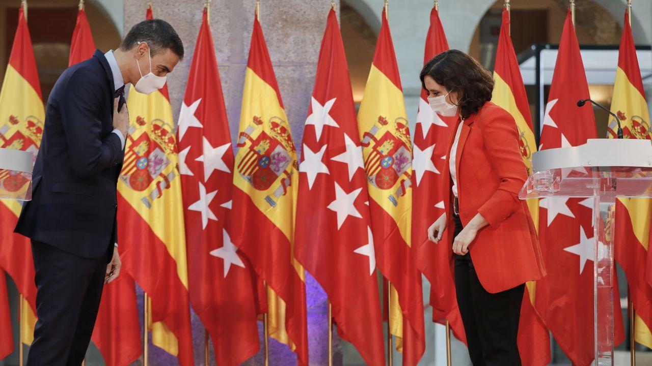 Díaz Ayusoy Sánchez valoran su encuentro sobre el avance de la pandemia en Madrid
