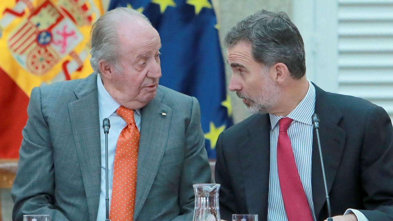 Juan Carlos I y Felipe VI, en una imagen del pasado mes de marzo