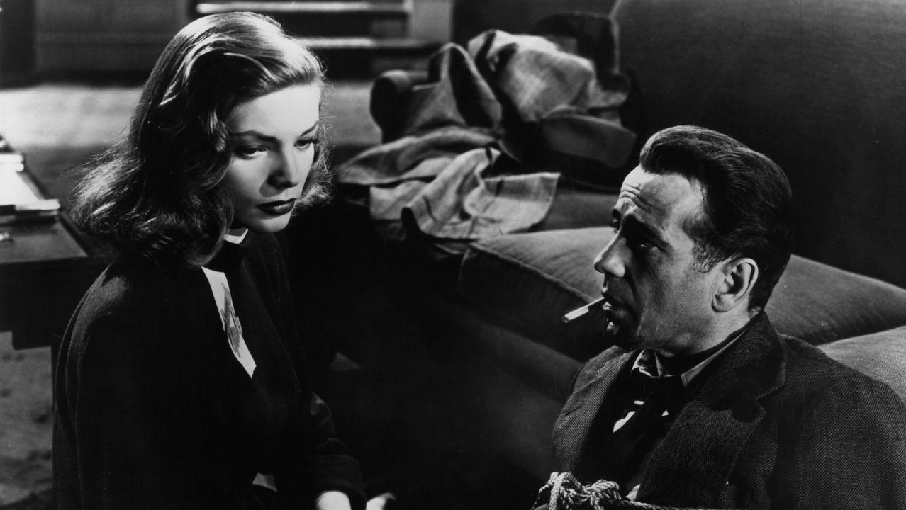 El rostro de Marlowe. Fotograma del filme de Howard Hawks «El sueño eterno», en el que Humphrey bogart encarnó al detective privado Philip Marlowe, asocaido ya para siempre al rostro del mítico actor neoyorquino.