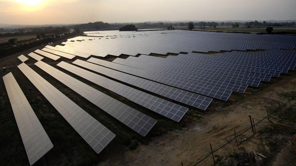 Un panel solar