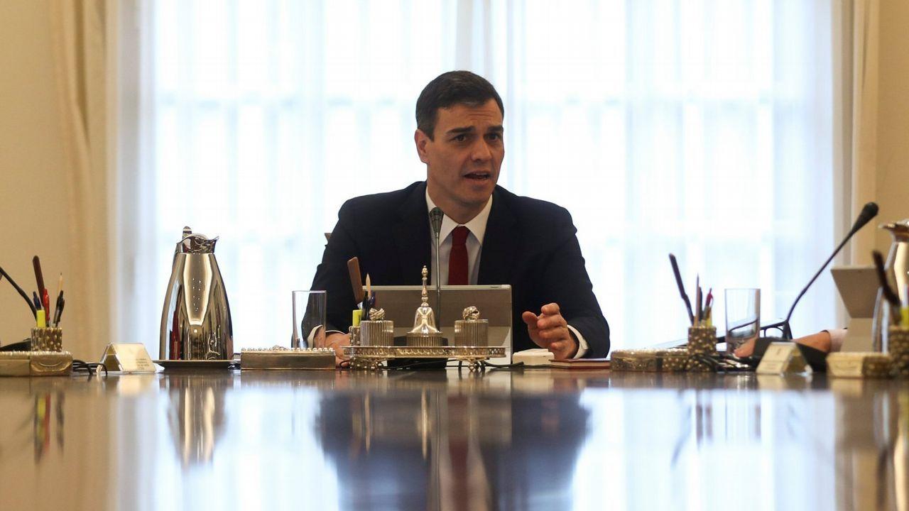 Màxim Huerta presenta su dimisión tras seis días como ministro.El presidente del Gobierno, Pedro Sánchez, durante la toma de posesión de sus ministros