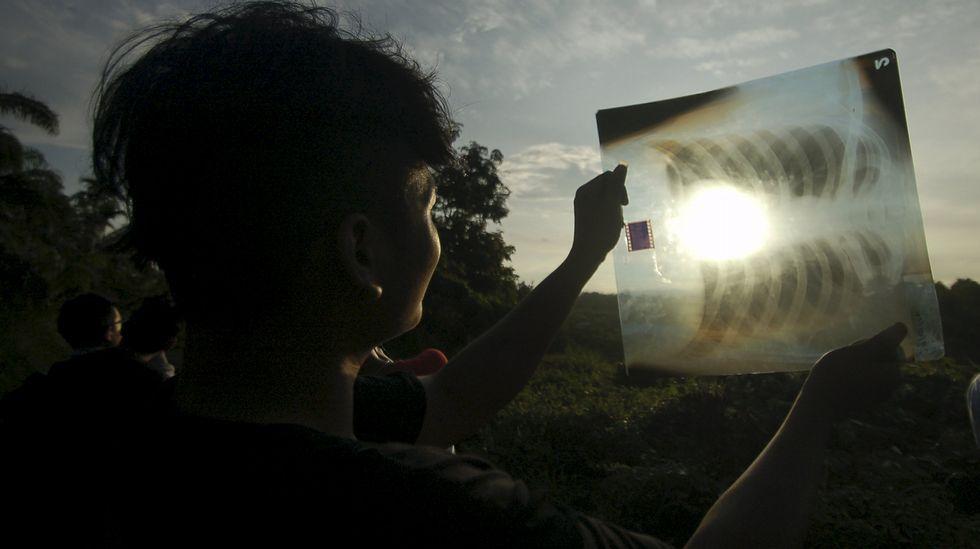 Así se vio el eclipse en Java, Indonesia.