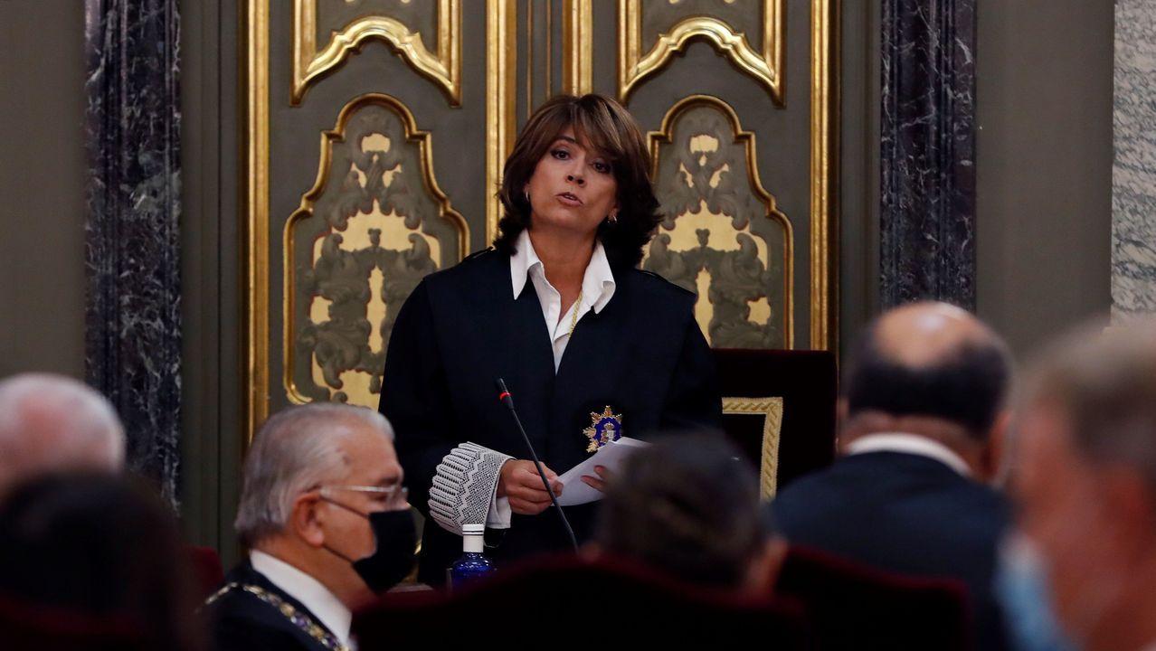 Dolores Delgado, durante la inauguración del año judicial