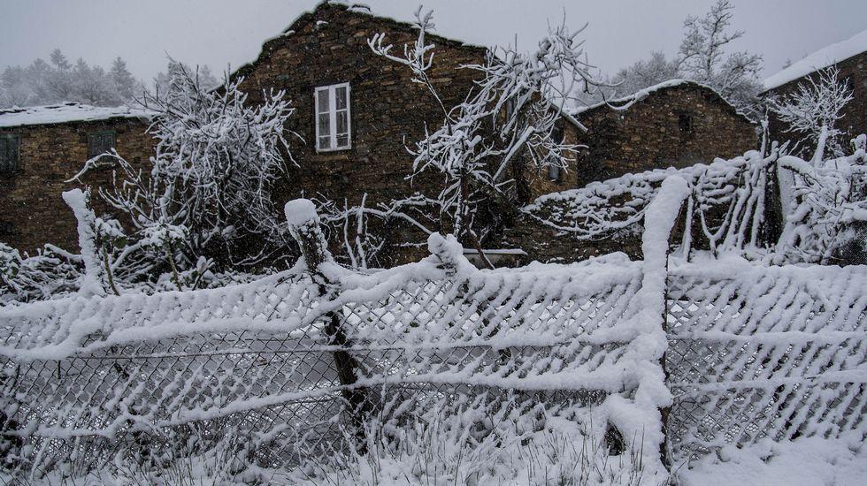 Nieve en A Pobra do Brollón.