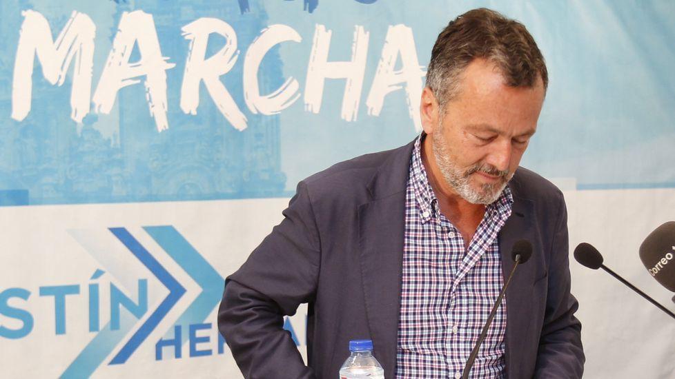 Comparecencia de Agustín Hernández en la sede electoral del PP