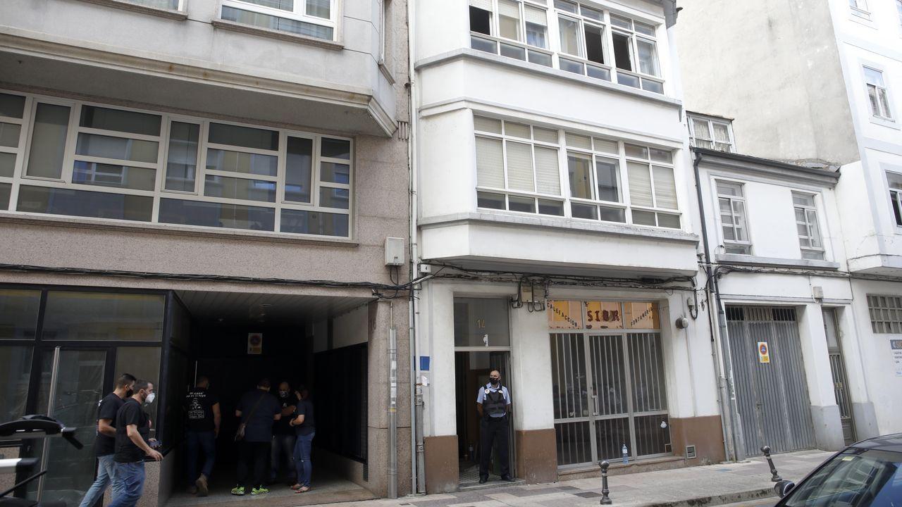El pregón de San Froilán en imágenes.El edificio desalojado la semana pasada en Lugo