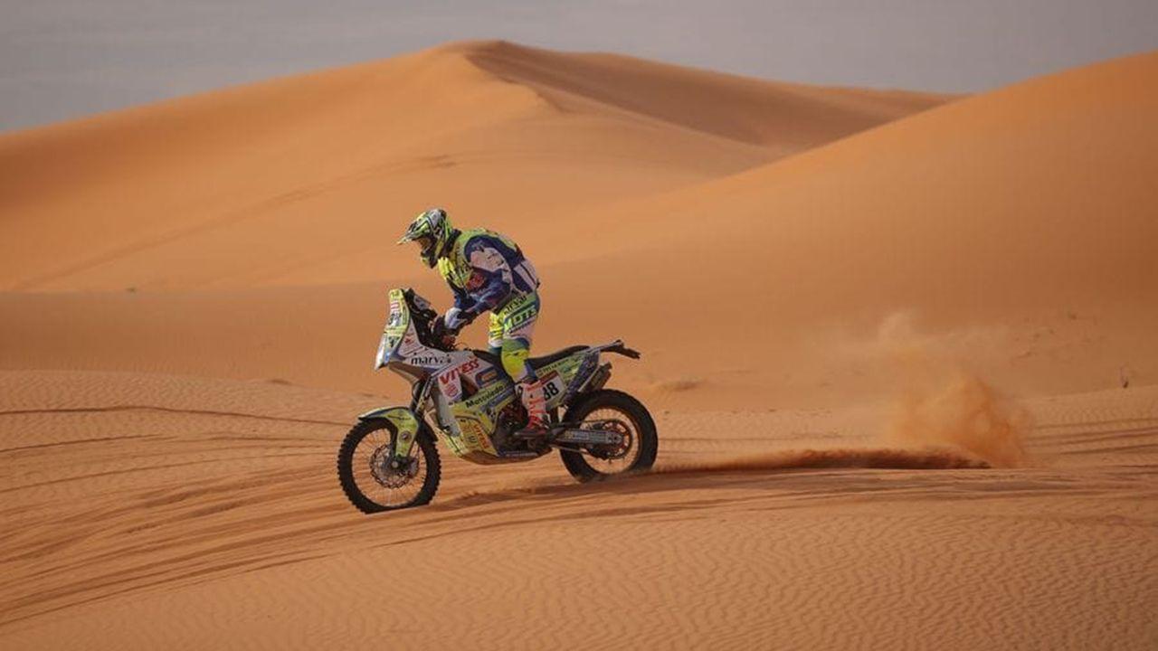 Javier Rañeces, piloto asturiano en el Dakar