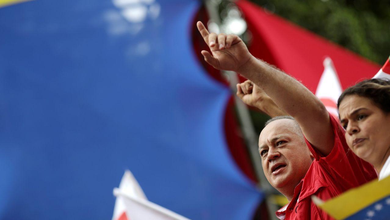 Guaidó: «Espero que la democracia española sea fuerte para hacer frente a la dictadura de Maduro».El número dos del chavismo, Diosdado Cabello