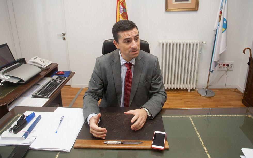 Roberto Brezmes en su despacho el pasado jueves.