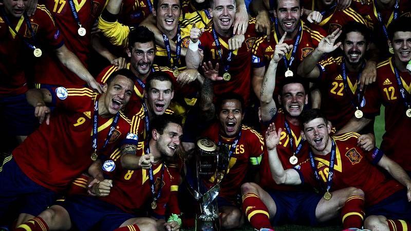 La selección gallega con Thiago, Rodrigo, Víctor Bouza y Morenín