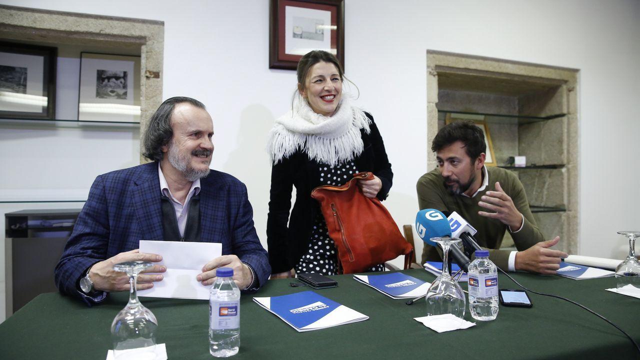 Fernán-Vello, Yolanda Díaz y Gómez-Reino, este viernes