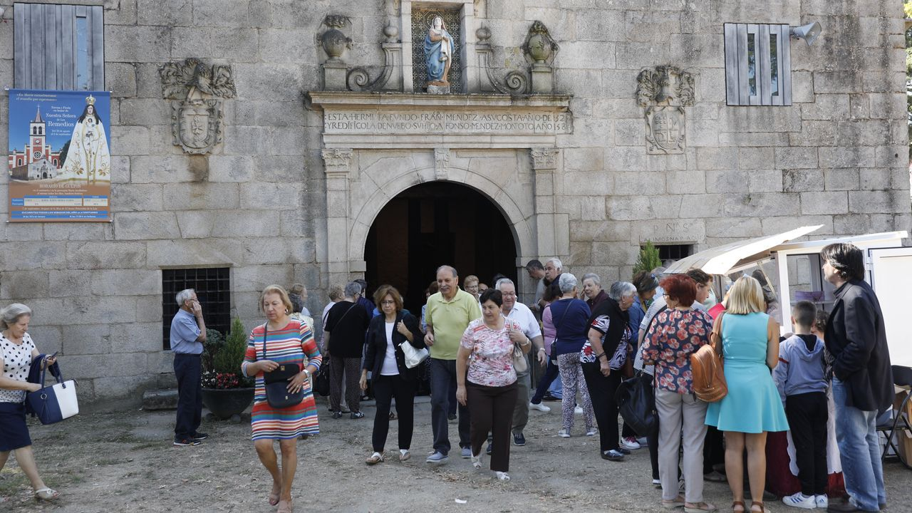 Rali Ourense Lugo Ribeira Sacra.Romeria de Os Milagros, en Baños de Molgas