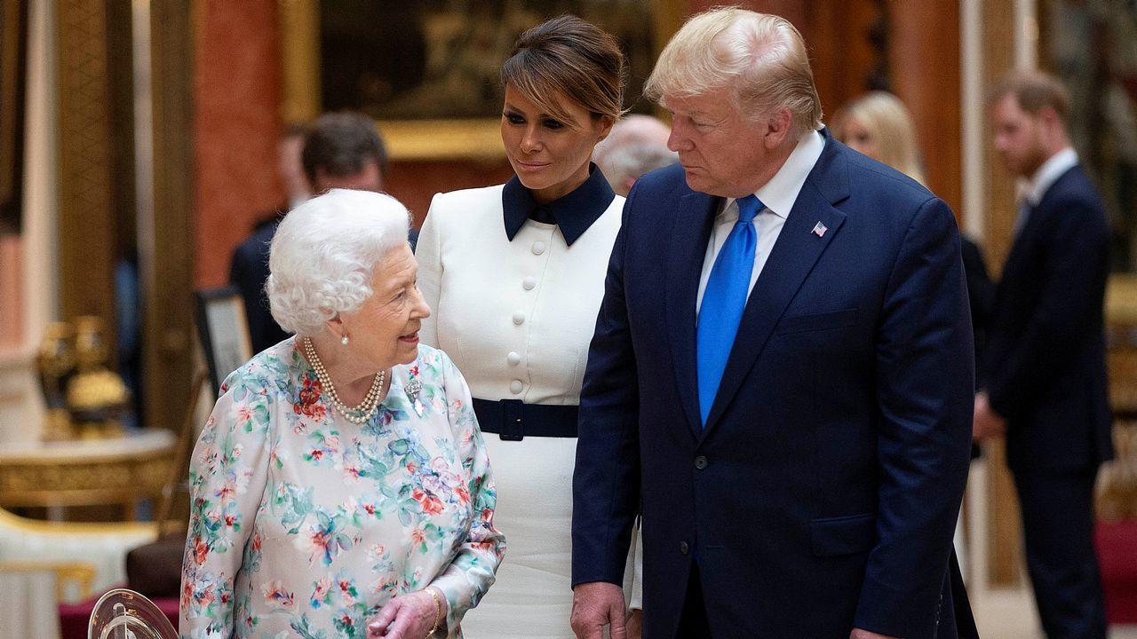 Meghan Markle reaparece en el desfile «Trooping the Colour».La reina muestra al matrimonio Trump artículos de la colección real en el palacio de Buckingham
