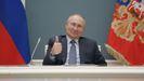 Putin, durante una videoconferencia el pasado 10 de marzo