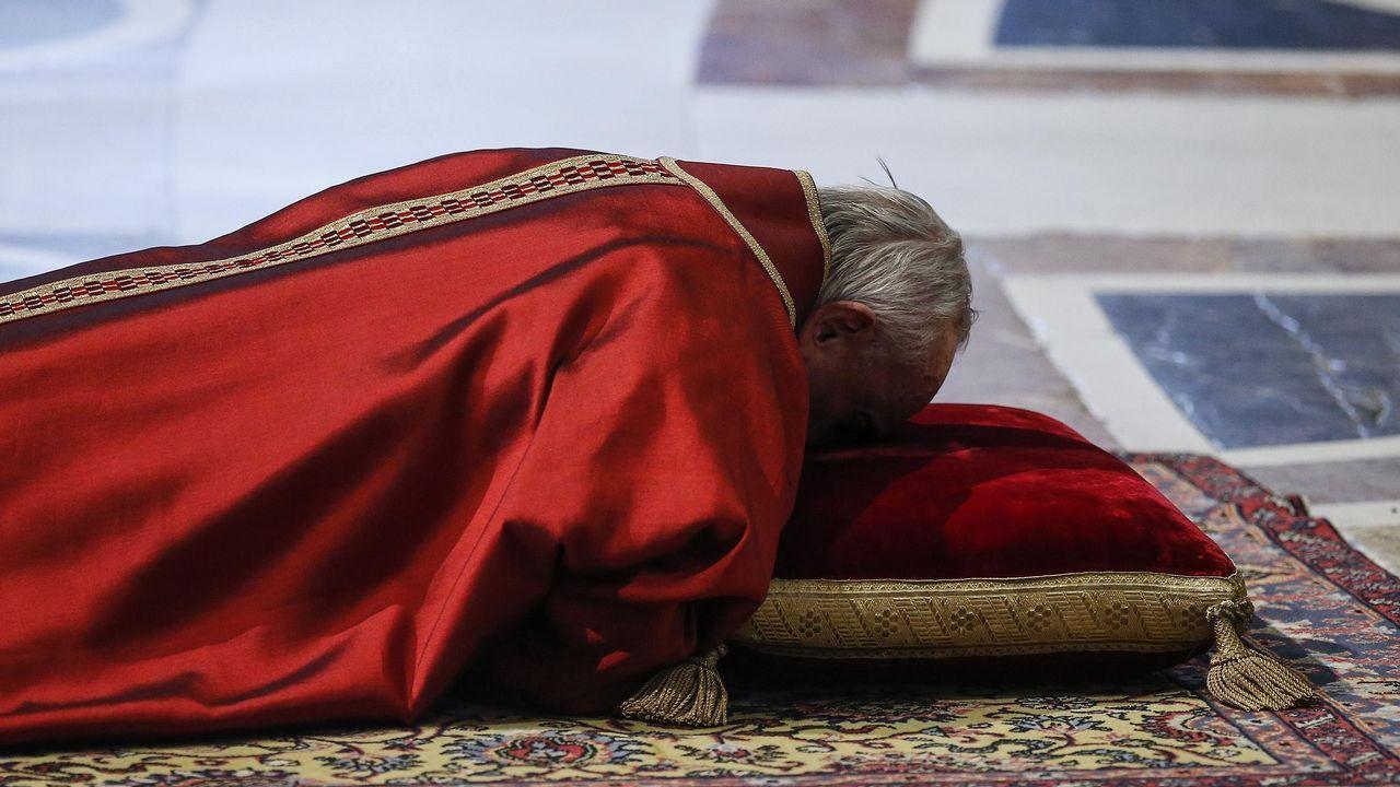 El cardenal George Pell, de 77 años, juzgado por abusos sexuales contra niños en Australia.Anthony Blake