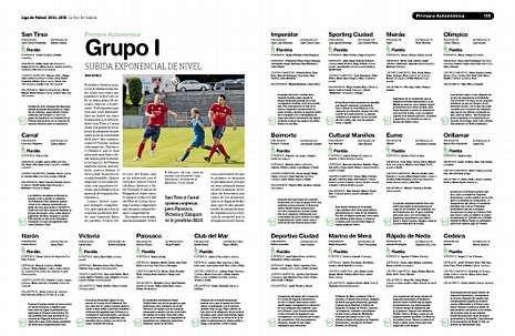 El fútbol gallego ya tiene su guía gracias al minucioso trabajo de los redactores de La Voz de Galicia.